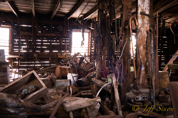 Farming tools and equipement found in an abandoned barn in Jefferson, NH.