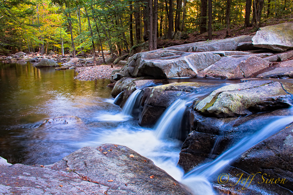 Waterfall on the Mad River in Farmington, NH.