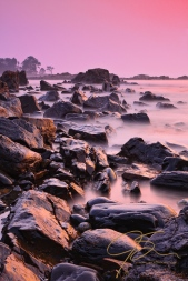 Misty Sunrise At Odiorne Point, New Hampshire.