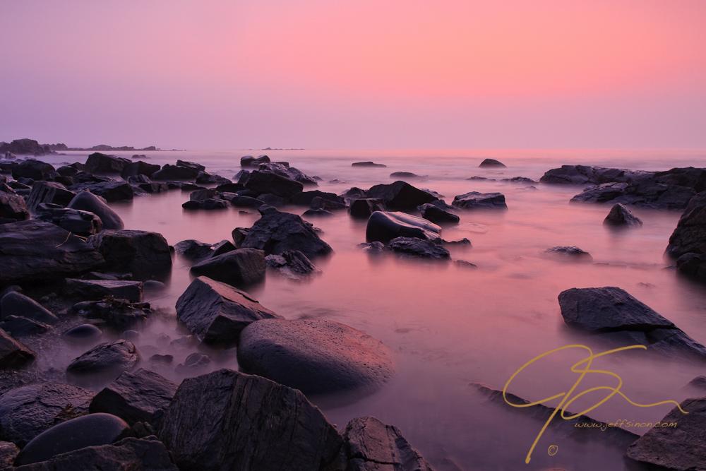 Foggy Sunrise at Odiorne Point