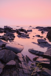 Sunrise over Odiorne Point along New Hampshire's coast.