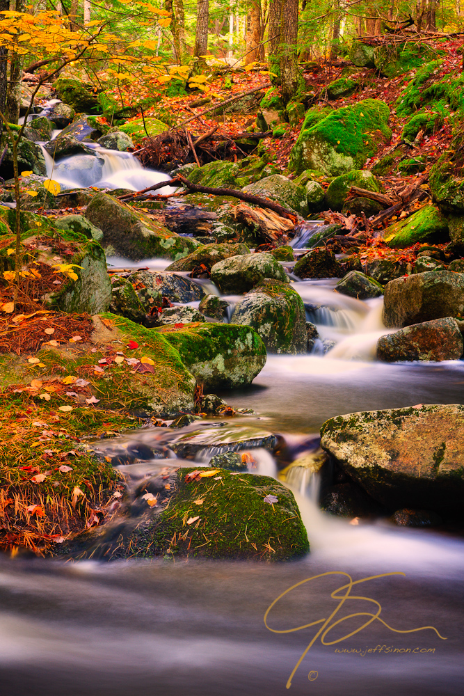 Madison Cascades In Fall Color.