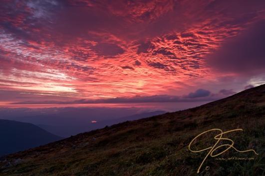 Sunrise from Mt Washington.