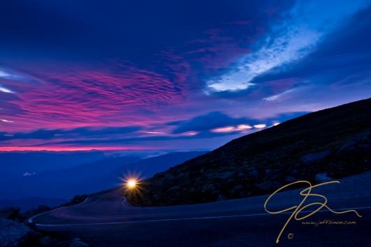 sunrise on Mt Washington.