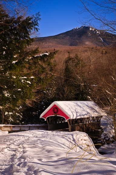 Covered Bridge over The Pemigewasset, Flume Gorge.