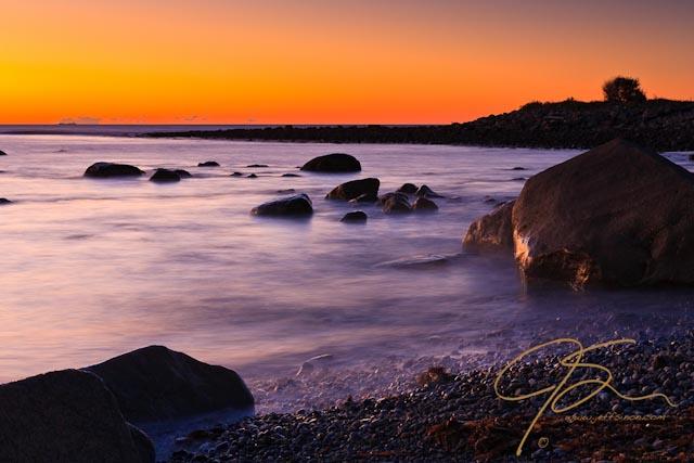 Rye Harbor State Park at sunrise