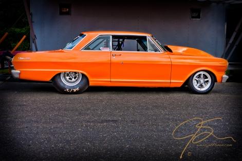 Chevy Nova SS drag racing car