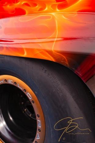 racing slick and air brush flames