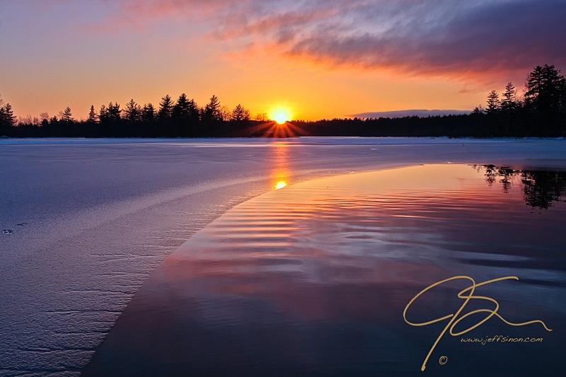 Sunset, Bellamy Reservoir, Dover, NH.
