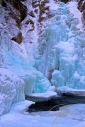 Glen Ellis falls covered in thick blue ice