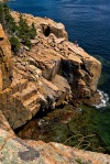 Climbers On Otter Cliffs, Acadia National Park, Maine.