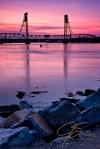 Memorial Bridge At Sunset.
