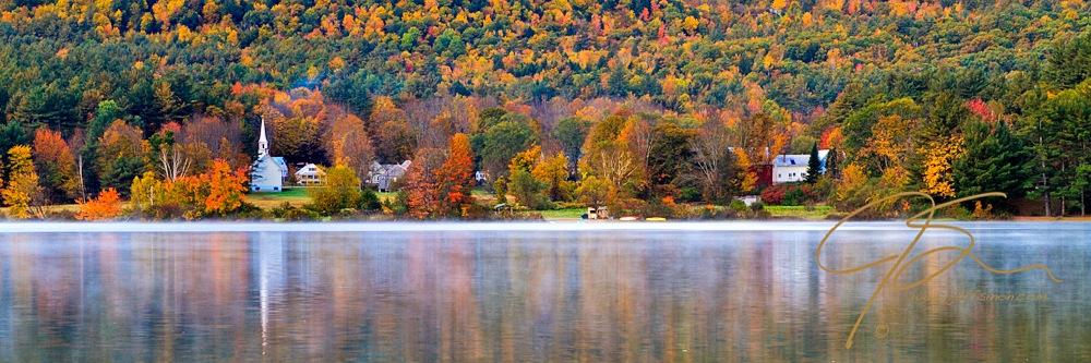 Church And Farm, Autumn, Eaton, NH.