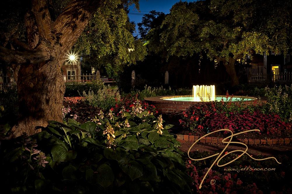 Evening In The Garden, Prescott Park Gardens At Night. | Jeff ...