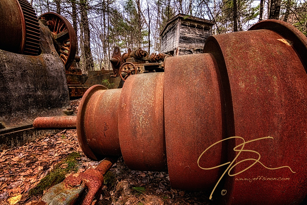 Lathe. Redstone Quarry, Conway, NH.