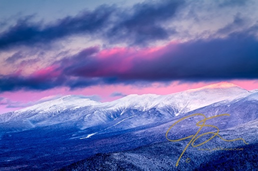 Mount Washington Summit In The Alpenglow
