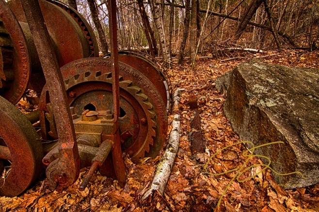 Winch. Redstone Granite Quarry, Conway, NH
