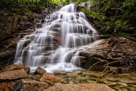 Silky Veil. Clouudland Falls, Lincoln, NH.