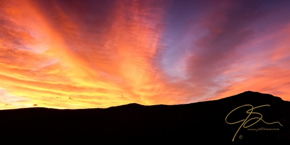 Fire Over The Ridge. Sunrise In Crawford Notch, NH