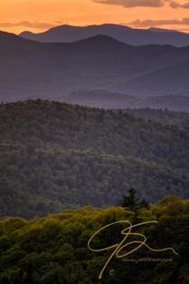 Mountain Layers In Green