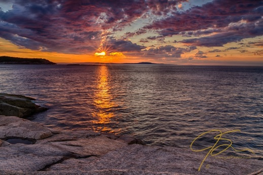 Sunrise. Acadia National Park, Maine.