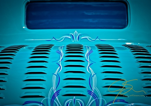 Louvers In Blue