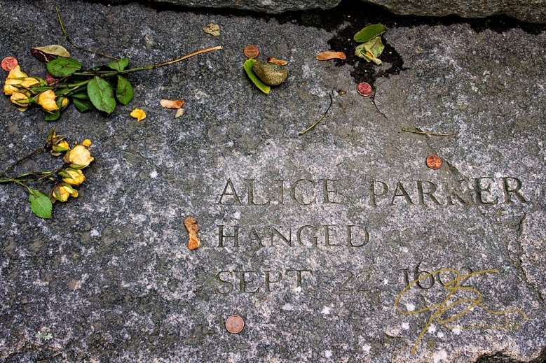 Memorial To Alice Parker, Accused Witch