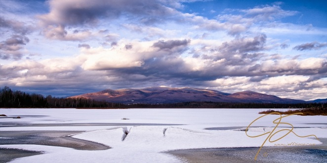 Mt. Starr King And The Pliny Range Over Cherry Pond, Winter.