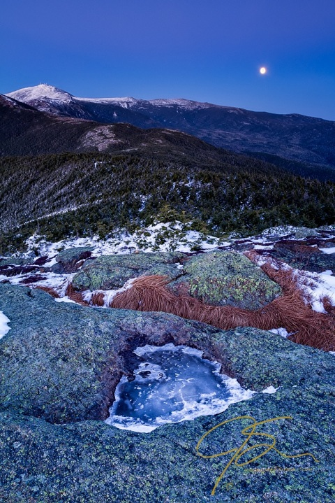 Moonrise Over Mount Washington