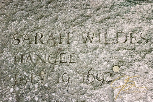 Memorial Of Sarah Wildes, Accused Witch