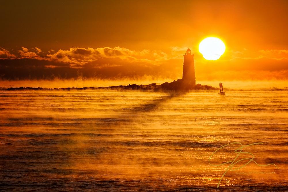 Whaleback In The Sea Smoke