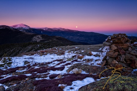 Cairns, Mt. Washington, and the Full Moon.