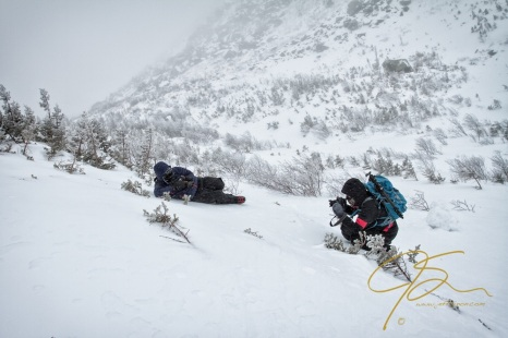 Tracey, Adam, And The Weather In Tuckerman Ravine