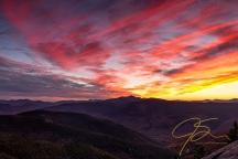 Stairs Mountain Autumn Sunset