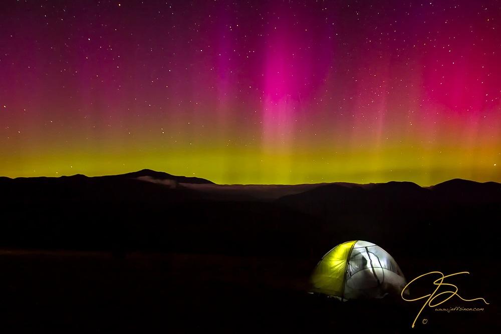 Spending The Night Under Aurora Skies
