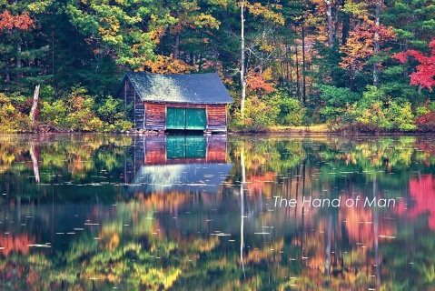 Abandoned boathouse on Little Lake