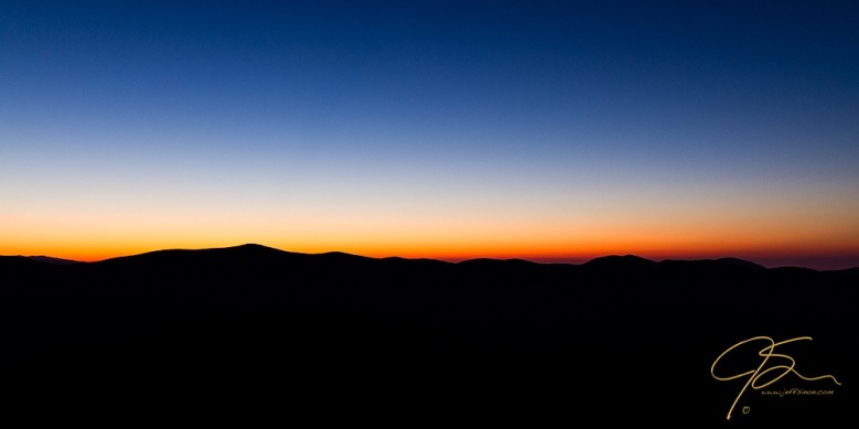 Mountain Silhouettes. South Twin, The Bonds, Bond Cliff.