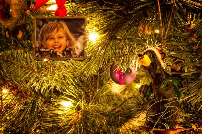 Nicole and Bear Christmas Tree Ornaments