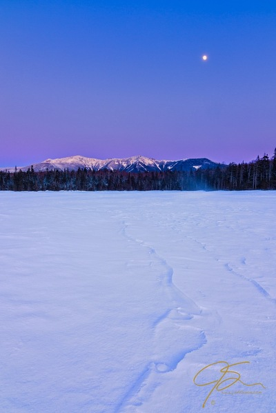 Moonrise Over Lonesome Lake