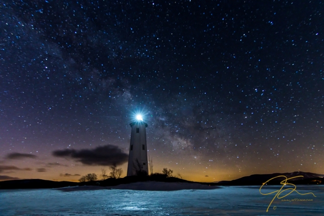 Milky Way Over Loon Island Light
