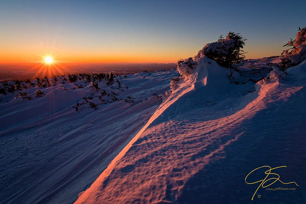 Winter Sunset, Mount Moosilauke