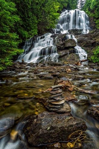 Cairn At Beaver Brook Falls