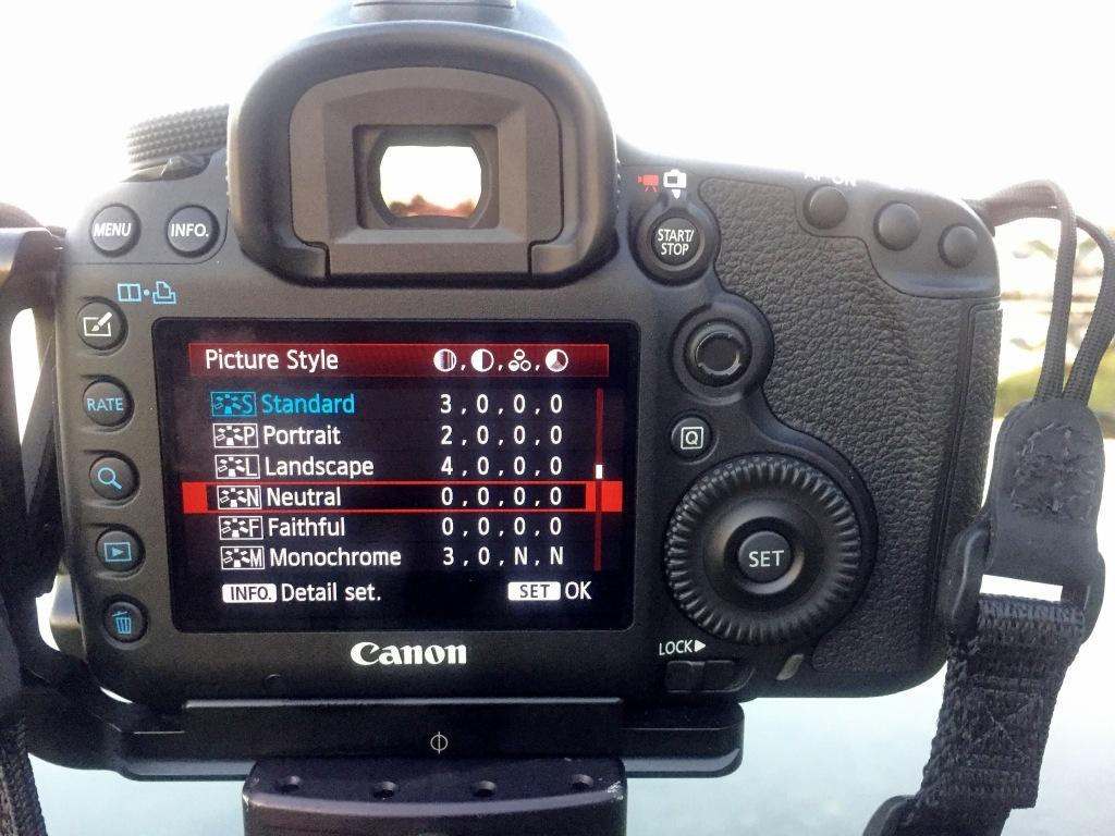 5D Mk III LCD Picture Styles Menu 2091