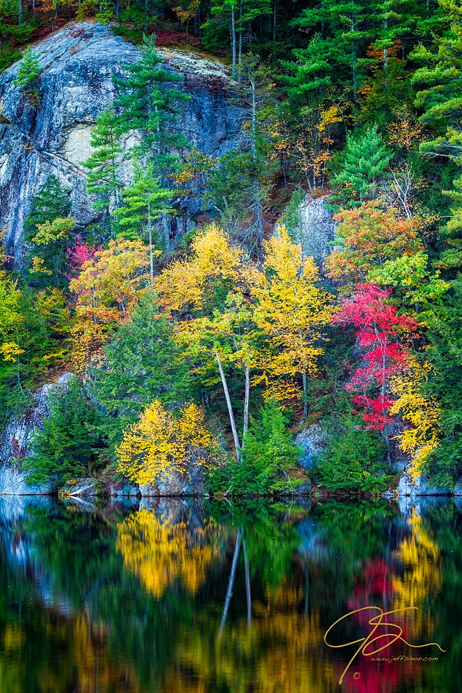 Granite And Gold, Autumn On Stonhouse Pond