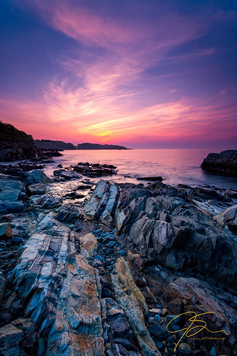 Sunrise Over Glacial Striations, Fort Foster, Kittery, Maine