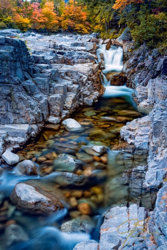Rocky Gorge along the Swift River In Albany, NH never disappoints. Even with the lowest flow I've ever seen here it's still a great waterfall.