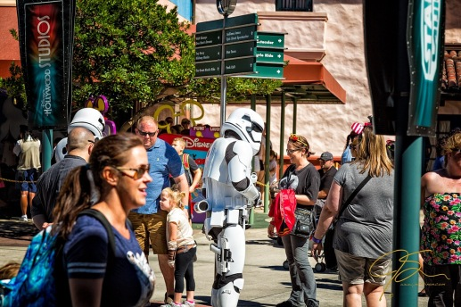 Storm Troopers mingle with the crowd at Hollywood Studios.