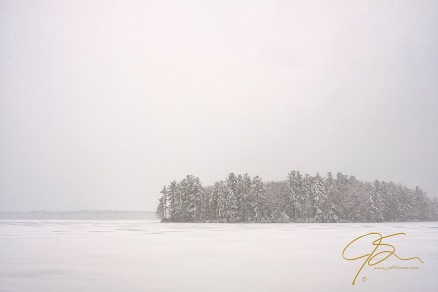 Snow Storm Baxter Lake