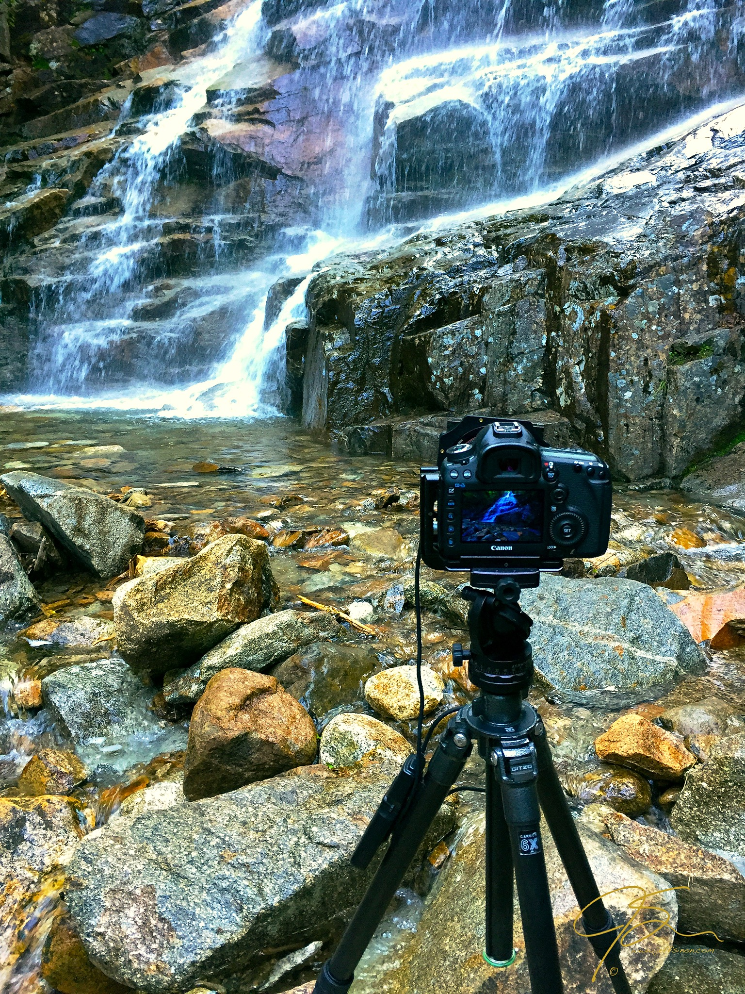 canon gitzo tripod waterfall long exposure