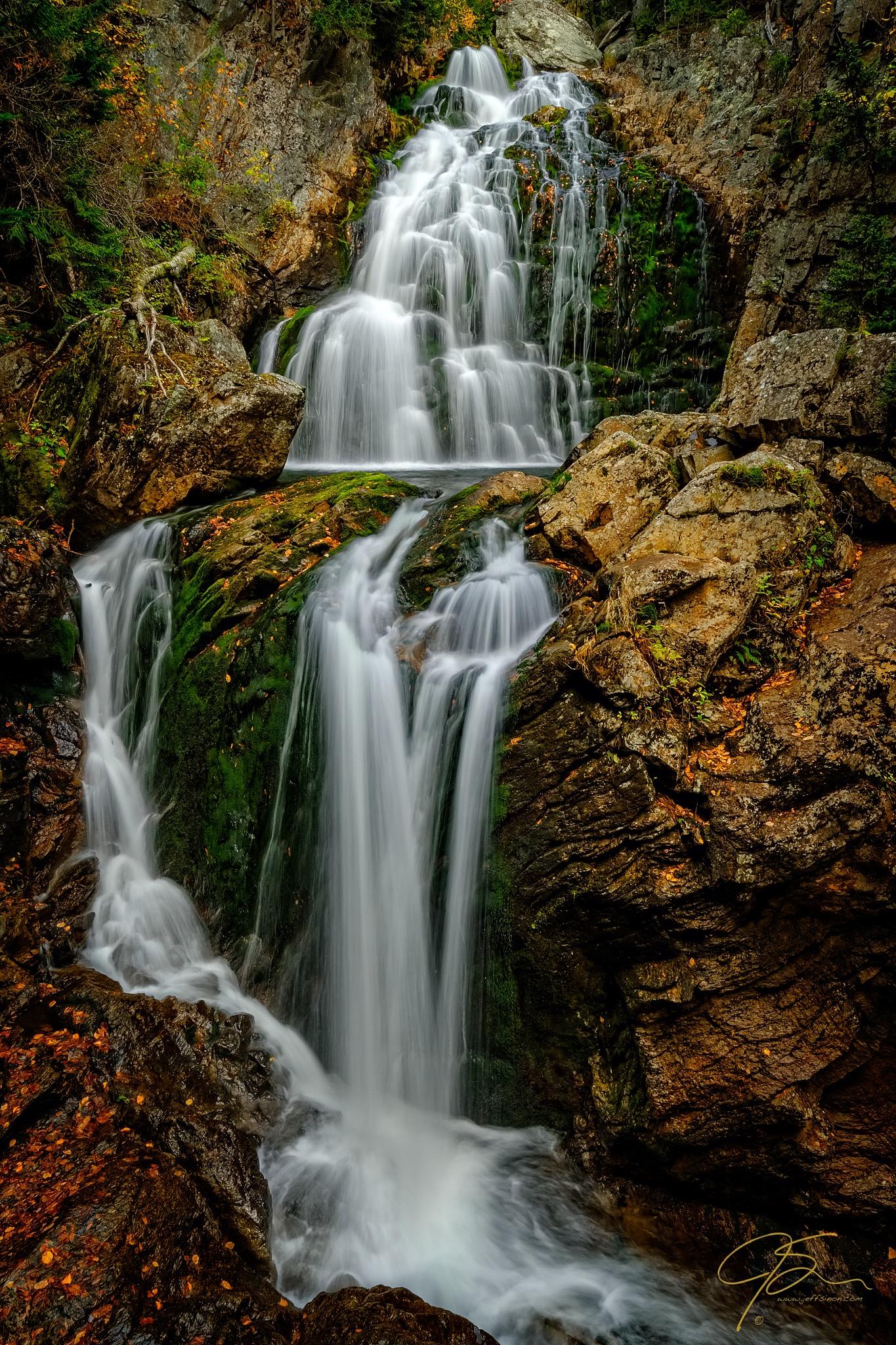 crystal cascade waterfall pinkham notch